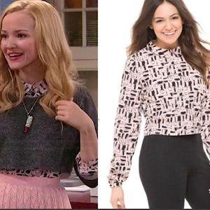 NWOT Bethany Mota pink blouse